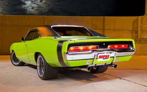 Picture Dodge, Green, Charger, 1970, Muscle Car