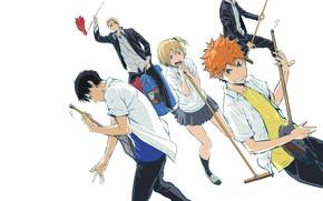Picture anime, art, guys, Volleyball, Haikyuu!