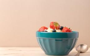 Picture berries, milk, cereal, Breakfast