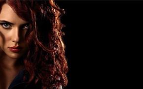Picture Scarlett Johansson, red, Iron Man 2, Black Widow, movies