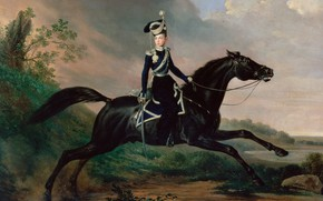 Picture picture, Franz Kruger, Alexander Nikolayevich, Equestrian portrait of Grand Prince