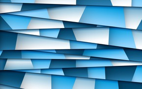 Picture blue, background, geometry, paper, abstraction, abstract