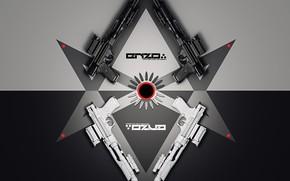 Picture weapons, guns, symmetry, AASB, Long-range pistol design