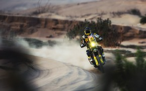 Picture Sand, Sport, Speed, Motorcycle, Racer, Moto, Rally, Dakar, Dakar, Rally, Husqvarna, Paul Quintanilla