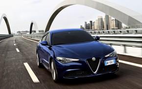 Picture the city, markup, Alfa Romeo, sedan, highway, Giulia