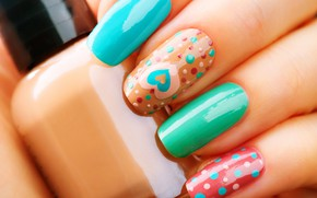 Picture hand, nails, lacquer, manicure