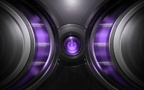 Picture mesh, button, power, purple