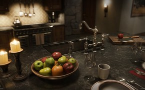 Picture design, art, kitchen., Mountain Lodge, Joakim StigssonPRO