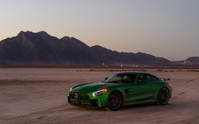 Picture design, green, background, Mercedes GTR