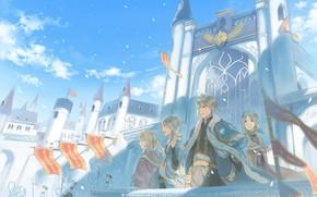 Picture girls, anime, art, guys, brothers, Kingdom, Akagami no Shirayukihime, Red Haired Snow White