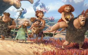 Picture animated film, vegetation, The Croods, animated movie, family, caveman, The Croods 2