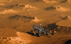 Wallpaper Curiosity, Curiosity, Mars, surface, the Rover