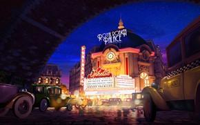 Picture machine, the city, theatre, Grand Premiere