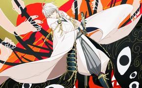 Picture anime, art, guy, Touken ranbu, Dance Of Swords
