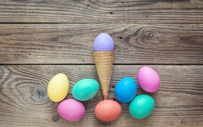 Picture spring, Easter, horn, wood, spring, Easter, eggs, decoration, Happy, the painted eggs