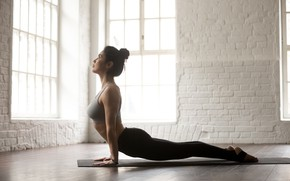 Picture pose, female, yoga