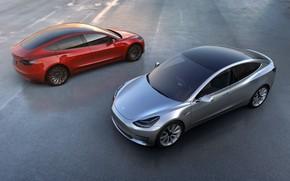 Picture Tesla Model S, Tesla motors, 3 tesla