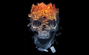 Picture death, background, skull, minimalism