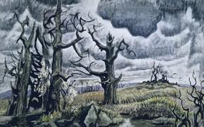 Picture Charles Ephraim Burchfield, 1946-55, An April Mood