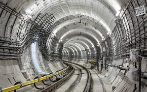 Wallpaper rail, structure, Tunnel