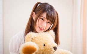 Picture Girl, Toy, Bear, Asian