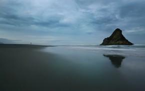 Picture sea, nature, rock, shore, people