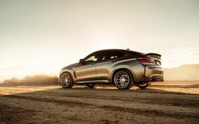 Picture road, design, desert, BMW X6M