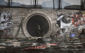 Picture garbage, graffiti, warrior, Outbreak, collector