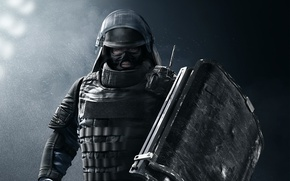 Picture game, soldier, Rainbow Six, shield, Mountain, Tom Clancy's Rainbow Six Siege, Rainbow Six Siege, GIGN
