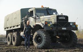 Picture Girl, Truck, KrAZ