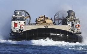 Picture tank, hovercraft, LCAC, Landing ship
