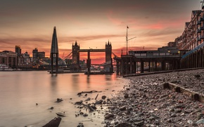 Picture river, England, London, tower, Thames, Tower bridge