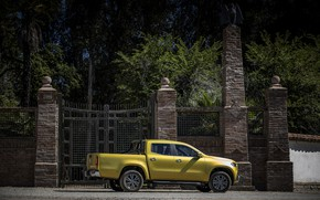 Picture trees, yellow, the fence, Mercedes-Benz, gate, pickup, 2017, X-Class