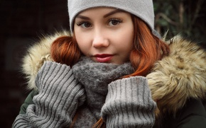 Picture winter, girl, photographer, cold, Andrey Zhukov, Foxy Alice
