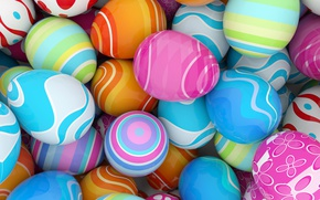 Wallpaper colorful, Easter, spring, Easter, eggs