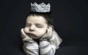 Picture crown, child, baby