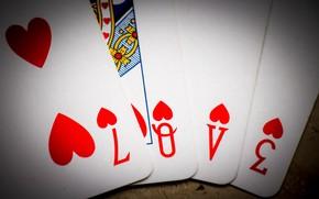 Picture card, macro, background, L. O. V. E.
