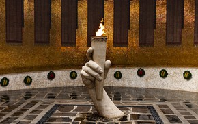 Picture memorial, eternal flame, MAY 9, The battle of Stalingrad