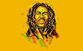 Wallpaper Bob Marley, music, low poly, Bob Marley, reggae