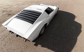 Picture Auto, Lamborghini, White, Machine, Shadow, 1971, Car, Supercar, Lamborghini Miura, P400, Lamborghini Miura P400, Lamborghini …