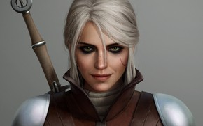 Wallpaper The Witcher 3 Wild Hunt, ciri, sword, girl, Zireael, Cirilla Fiona Elen Riannon, vedmochka, cirilla, ...