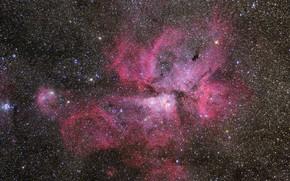Picture nebula, Carina Nebula, emission, in the constellation keel