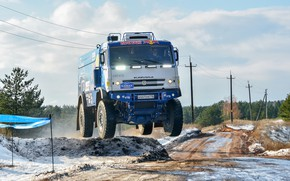 Wallpaper Winter, Sport, Speed, Truck, Race, Master, Beauty, Russia, Kamaz, Rally, Rally, KAMAZ, The front, The ...