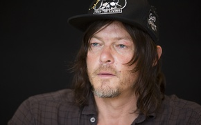 "Picture Norman Reedus, Comic-Con 2016, at the press conference of the series ""the Walking dead"""