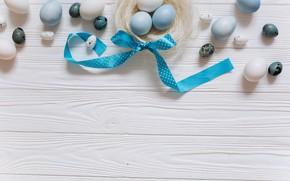 Picture eggs, blue, Easter, tape, white, white, wood, blue, spring, Easter, eggs, decoration, Happy, tender