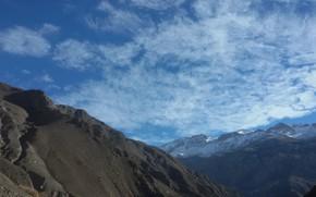 Picture sky, nature, mounatin
