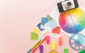 Picture color, palette, handle, colorful, line, fotoapparat