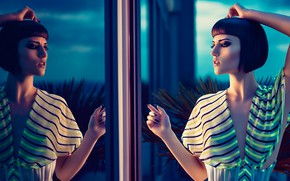 Picture style, reflection, makeup, hairstyle, Jake Hicks