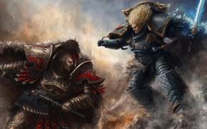 Picture Warhammer 40000, Leman Russ, Warhammer 40k, The Primarch, Angron, Leman Russ, Angron