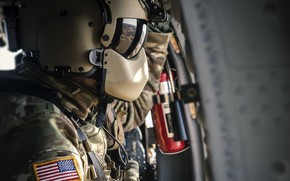 Wallpaper Sikorsky UH-60 Black Hawk helicopter, soldiers, army, weapons